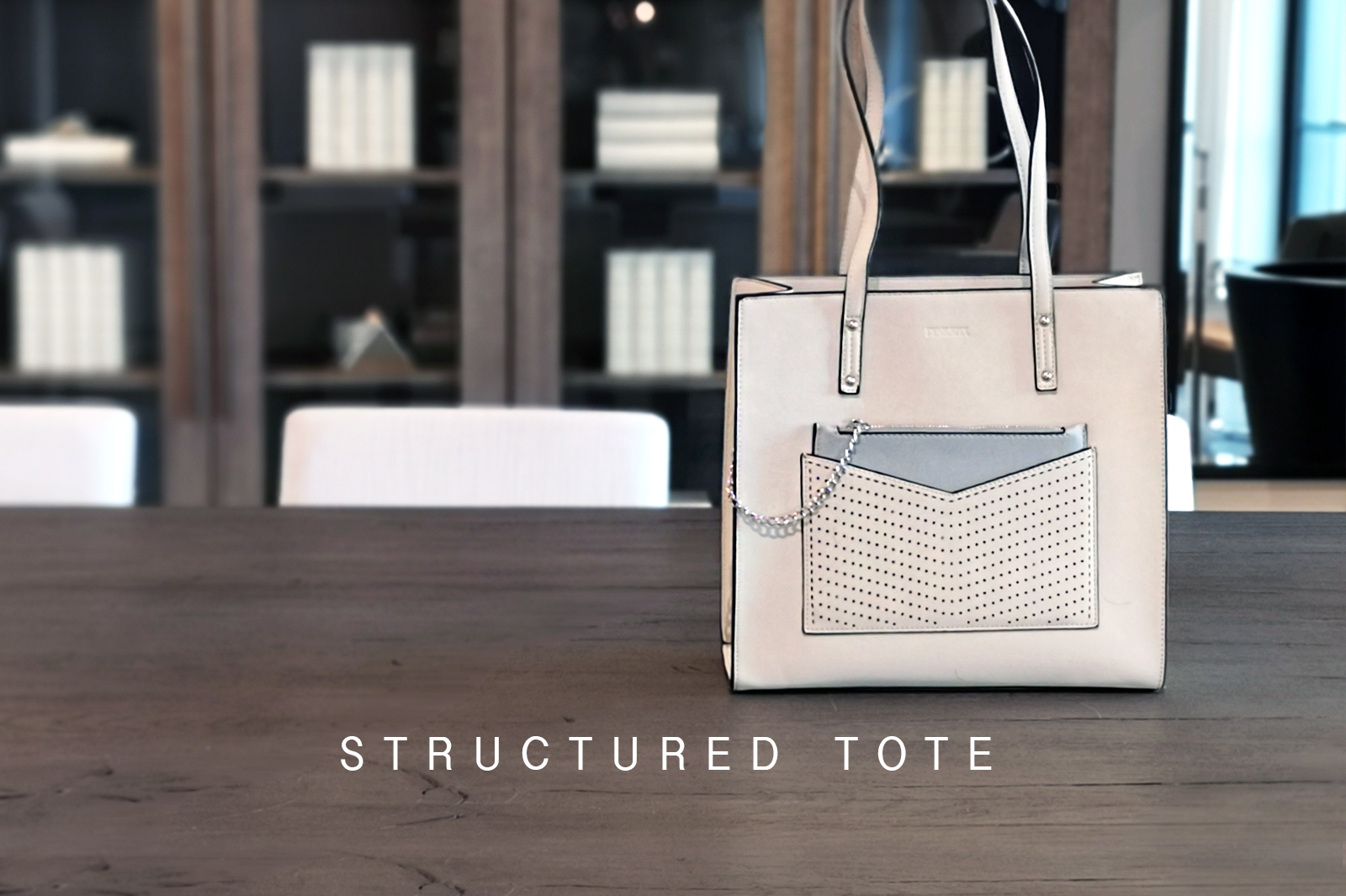 Triple Compartment Structured Tote